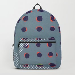 Green floats on yellow - dot graphic Backpack