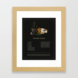Ginger Snaps Framed Art Print