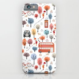 London transport with an adult female iPhone Case