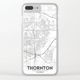 Minimal City Maps - Map Of Thornton, Colorado, United States Clear iPhone Case