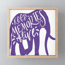 Keep Memories Alive Framed Mini Art Print