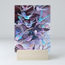 Ode to Haeckel's Hummingbirds Mini Art Print