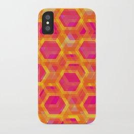 Beehive - Retro Pink Orange Yellow iPhone Case