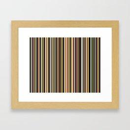 Old Skool Stripes - The Dark Side Framed Art Print
