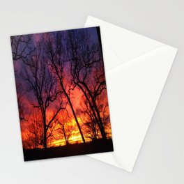 Silhouette Sunset  Stationery Cards