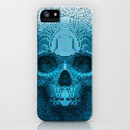 Pixel skull iPhone Case