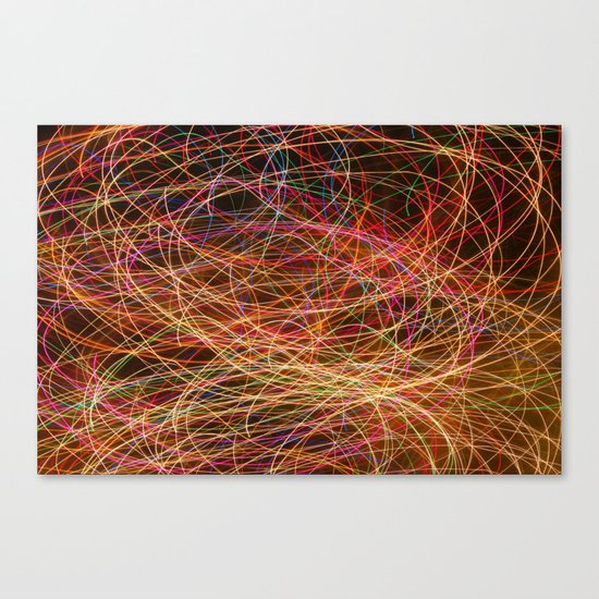 Lightpainting Canvas Print