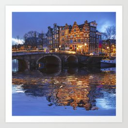 Papiermolensluis, Amsterdam, Netherlands ,Bridge Art Print