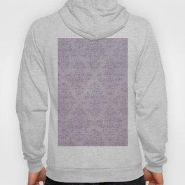 Vintage chic violet lilac floral damask pattern Hoody