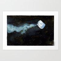 milky way Art Prints featuring Milky Way by Roxanne Bee