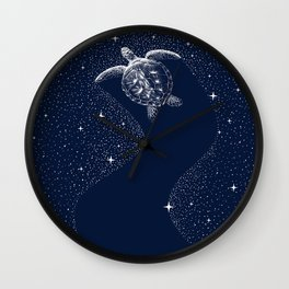 Starry Turtle Wall Clock