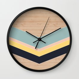 wood triangle Wall Clock
