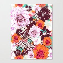 Croc Floral Canvas Print