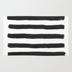 Black paint stripes Rug