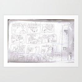 Angry Teacher Art Print