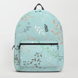 Light And Lovely Spring Floral Garden Pattern Backpack