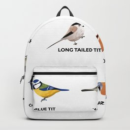 A collection of tit birds - Birding Gift Backpack