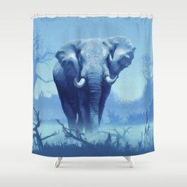 Misty Morning in the Tsavo Shower Curtain
