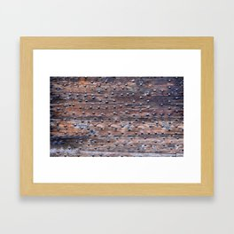 wooden board iron Framed Art Print