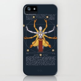 Vitruvian Omnic - color version iPhone Case