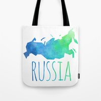 russia Tote Bags featuring Russia by Stephanie Wittenburg