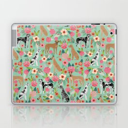 Great Dane floral dog breed pet friendly pet pattern great danes pure breed Laptop & iPad Skin