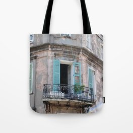 New Orleans French Quarter Balcony Tote Bag