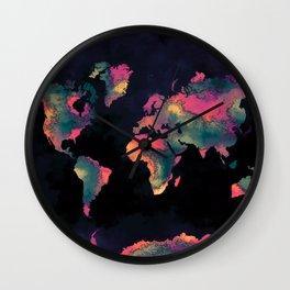 world map 74 Wall Clock