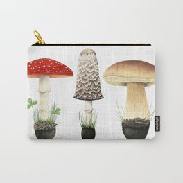 Three Mushrooms Carry-All Pouch