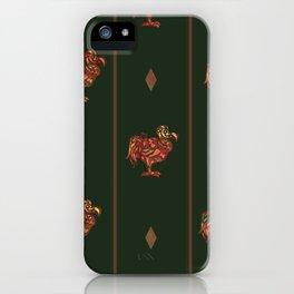 dodo pattern dark iPhone Case