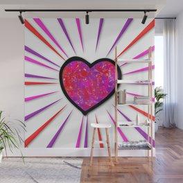 Painterd heart Wall Mural