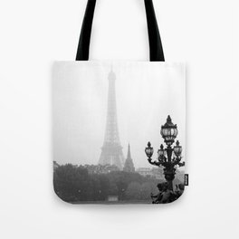 Veiled Eiffel Tower Tote Bag