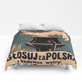 Vintage poster - Poland Comforters