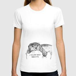 Lazy otter T-shirt