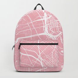 Dallas, Texas, City Map - Pink Backpack