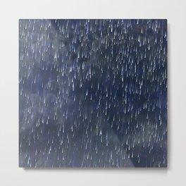 Raining Blue Metal Print