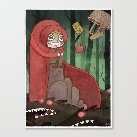 Miss Red's Mad Adventure Canvas Print