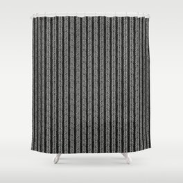 Mud cloth - Black and White Arrowheads Shower Curtain
