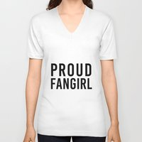 fangirl V-neck T-shirts featuring FANGIRL by The Fandom Designs