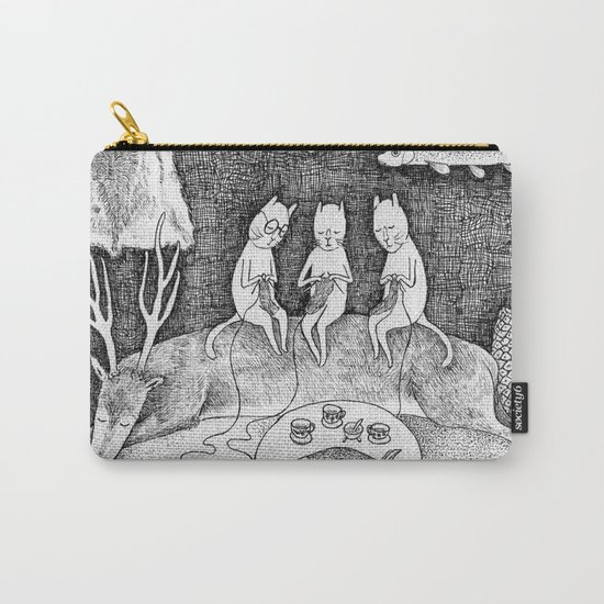 Knitting Cats Carry-All Pouch