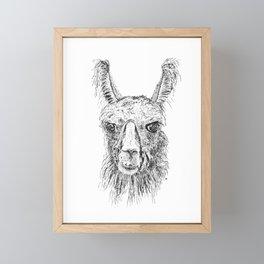 Llama Said Knock You Out Framed Mini Art Print