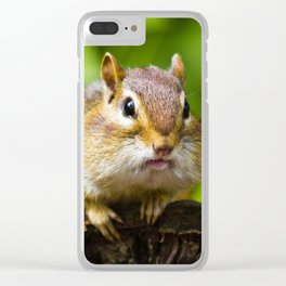Caught With His Mouth Full Clear iPhone Case