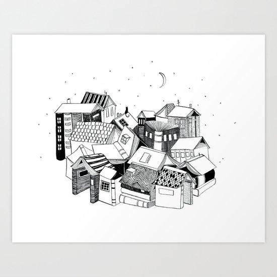 Book Town Art Print