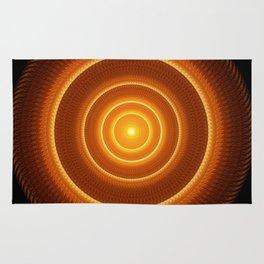 Golden Pulse Mandala Rug