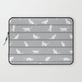 Cats Pattern (Grey) Laptop Sleeve