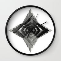 cyberpunk Wall Clocks featuring Time vs. Monolith by Obvious Warrior