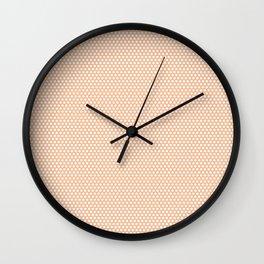 White polka dots Wall Clock