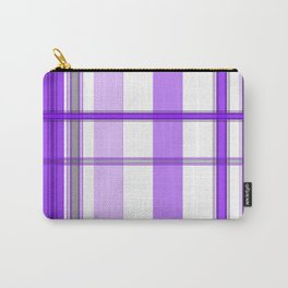 Shades of Purple and White Carry-All Pouch