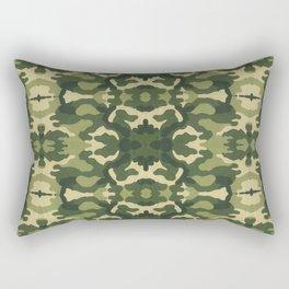 Retro close-up view camouflage fabric illustration pattern Rectangular Pillow