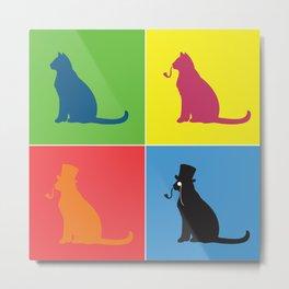 Warholian Cats Metal Print